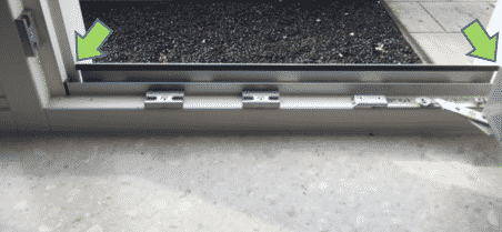 Messen Fensterrahmen mit Aluminiumstreifen Spannrahmen