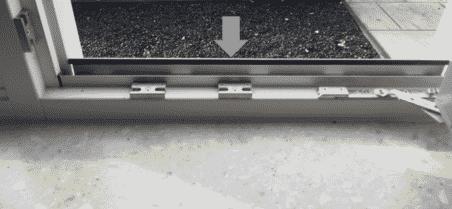 aluminium strip tussen kozijnstijlen inzethor