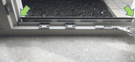 meten kozijn met aluminium strip inzethor