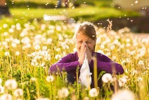 meisje met hooikoorts